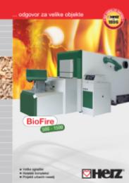 BioFire 500-1500 za velike objekte Moč ogrevanja od 150 do 1500 kW (v kaskadnem delovanju do 4500 kW) na sekance ali pelete