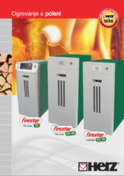 Uplinjevalni kotel na polena firestar 18-40 Moč ogrevanja od 7,6 do 40 kW Gorivo: polmetrska polena in lesni briketi